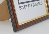 Dark Wood Gold Inlay Frame