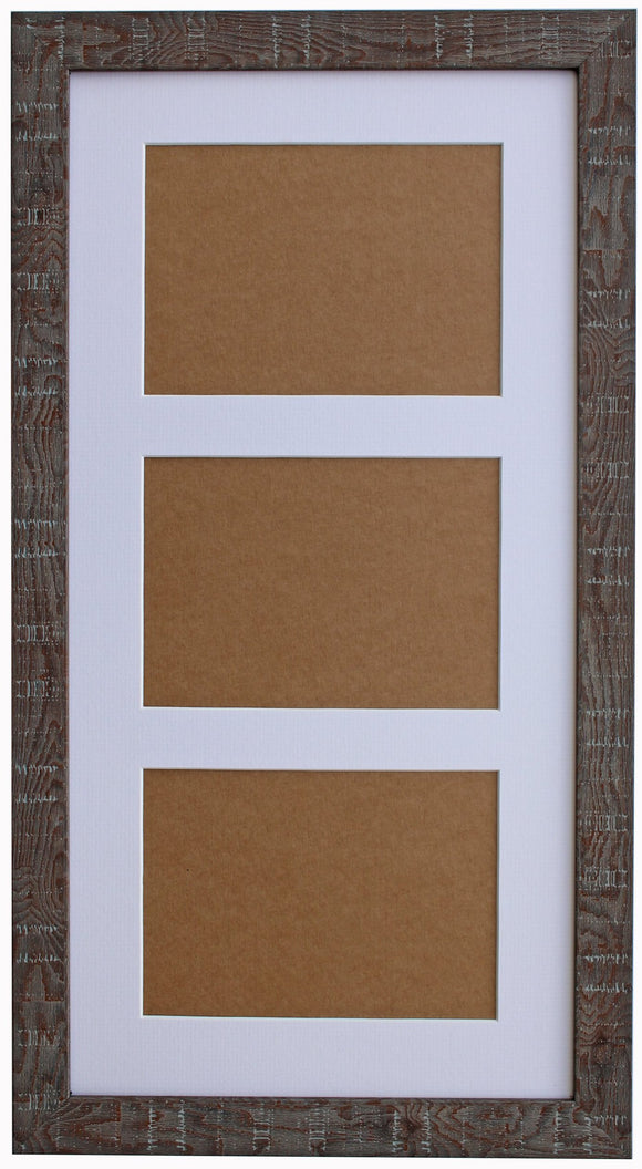 Walnut Orangebox Wood Grain Multi Aperture Frame - 17