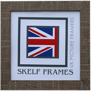 Walnut Orangebox Wood Grain Effect Square Frame with Glass