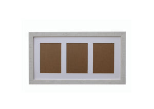 "White Orangebox Wood Frame Grain Multi Aperture 20"" x 10"" - With Glass Frame - CURRENTLY OUT OF STOCK"