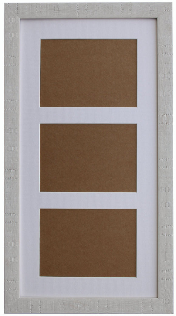 White Orangebox Wood Grain Multi Aperture Frame - 20