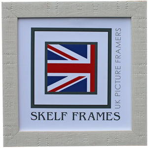 White Orangebox Wood Grain Effect Square Frame with Glass
