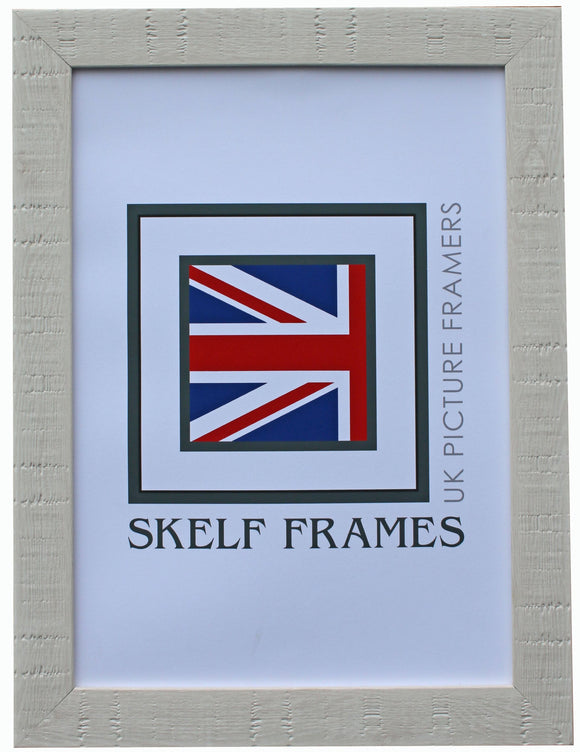 White Orangebox Wood Grain Effect A3 & A4 Size Frames