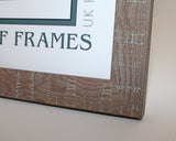 "Walnut Orangebox Wood Grain Multi Aperture Frame - 17"" x 9"" - With Glass"