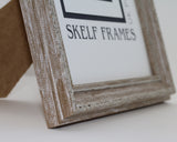 Ornate Walnut Brown Wash Frame with Glass