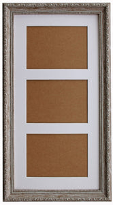 "Ornate Walnut Brown Wash Multi Aperture 20"" x 10"" Frame with Glass"