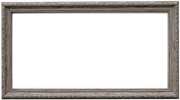 Panoramic Ornate Walnut Brown Wash Frame with Glass