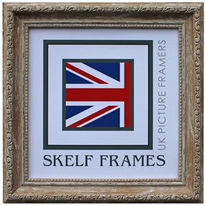 Ornate Walnut Wash Brown Square Frame