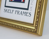 Panoramic Ornate Gold Frame with Glass