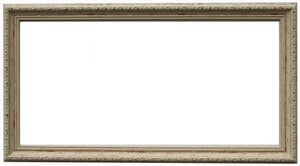Panoramic Ornate Shabby Chic Frame with Glass