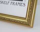"Ornate Gold Multi Aperture 17"" x 9"" - With Glass Frame"