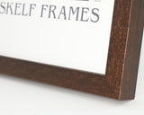 Phoenix Brown Wood Panoramic Frame