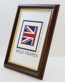 35mm Dark Wood Gold Inlay A1, A2, A3, A4 & A5 Size Frames
