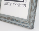Shabby Blue Frame with Glass