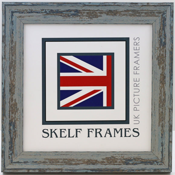 Shabby Blue Square Frame - CURRENTLY OUT OF STOCK