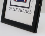 "Shiny Black Multi Aperture Frame - 20"" x 10"" - With Glass"
