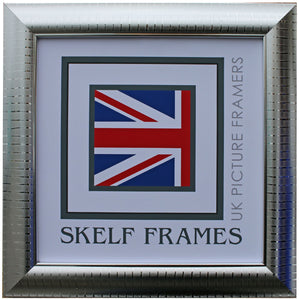 Silver Leaf Square Frame with Glass