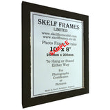 Black Thin Driftwood A3, A4 & A5 Size Frames with Glass
