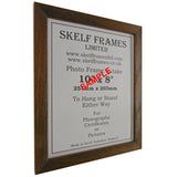 Brown Thin Driftwood A3, A4 & A5 Size Frames with Glass