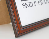 Traditional Dark Wood A4, A3 & A5 Size Frames with Glass