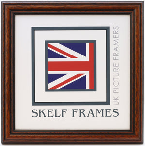 Traditional Dark Wood Square Frame
