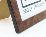 Walnut Effect Square Frame with Glass
