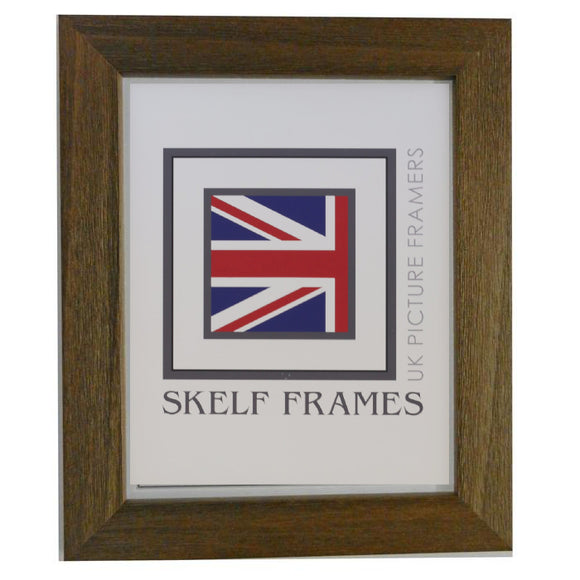 Wide Driftwood Effect Brown Wood Frame - Metric