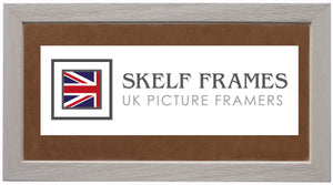 White Panoramic Wide Driftwood Frame