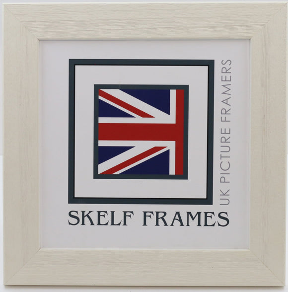 Wide White Driftwood Square Frame