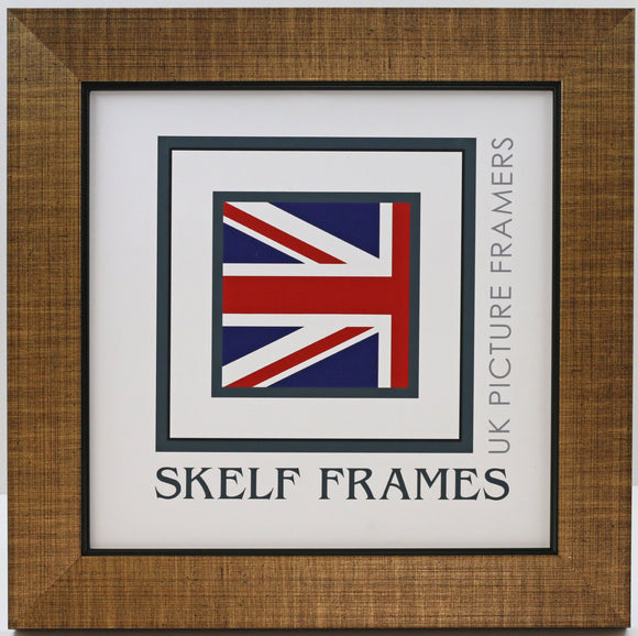 Cross Hatch Gold Square Frame with Glass