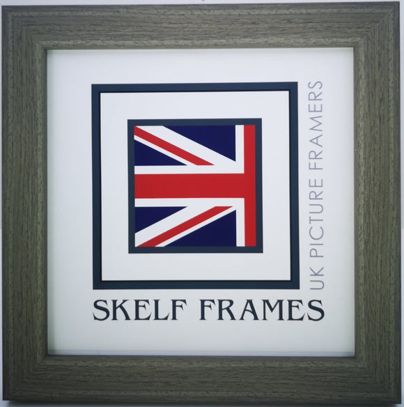 Flat Brushed Grey Square Frame