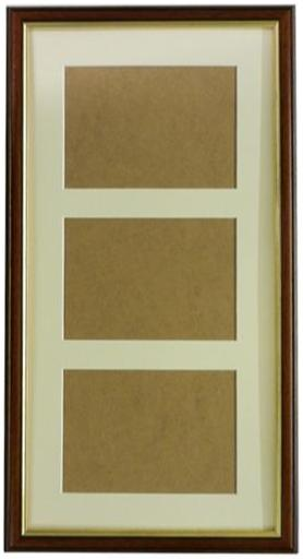 Dark Wood Frame With Gold Inlay Frame