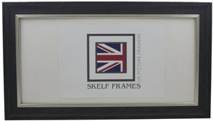 Panoramic Dark Grey with Silver Inlay Cornwall Frame