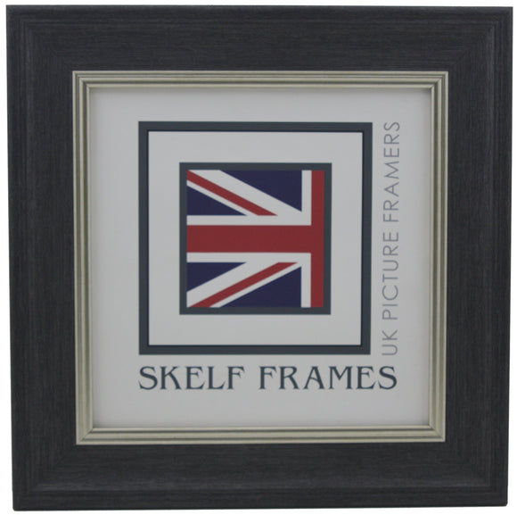 Dark Grey with Silver Inlay Cornwall - Square Frame