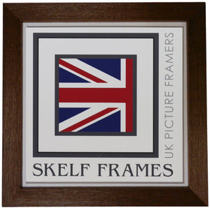 Brown Thin Driftwood Square Frame