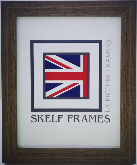 Flat Brushed Brown Frame