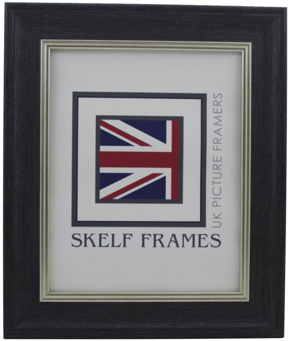 Dark Grey with Silver Inlay Cornwall Frame
