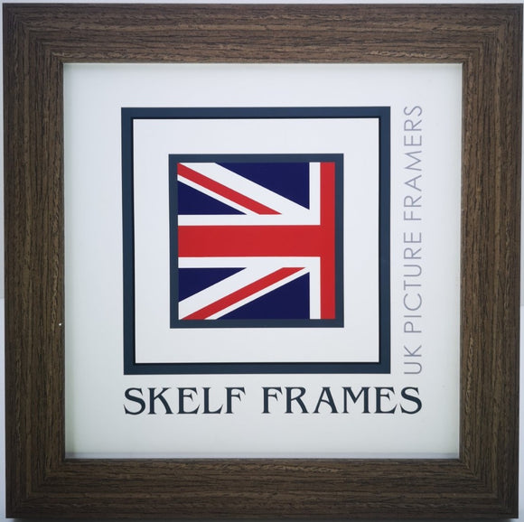 Flat Brushed Brown Square Frame