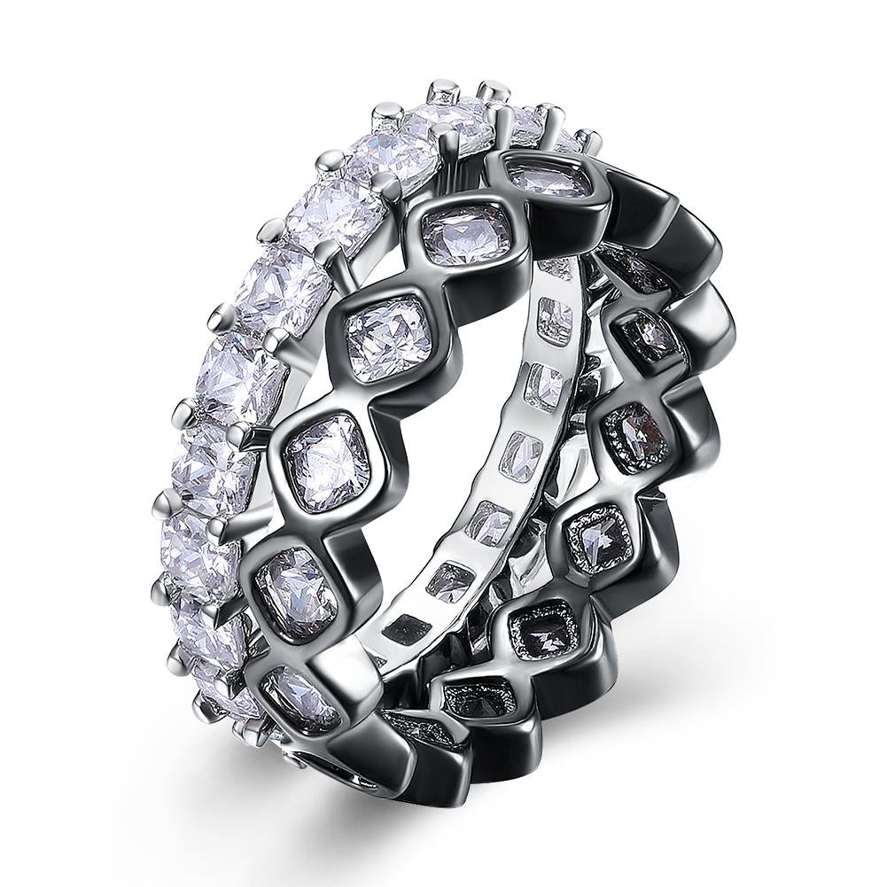 Duo Swarovski Elements Band Rings