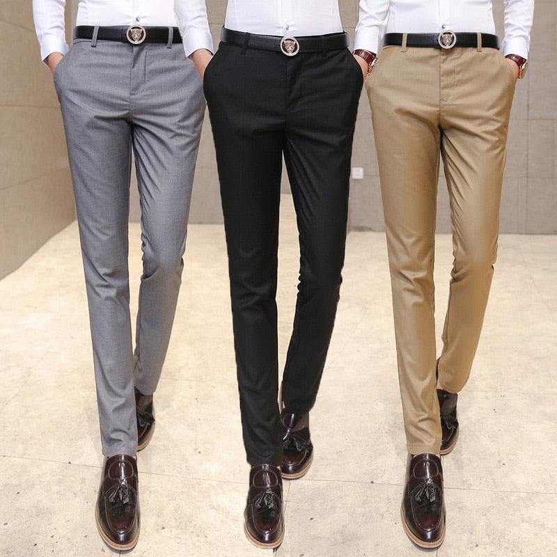 High-End Business Suit Trousers - Slim Fit - 4 Colors