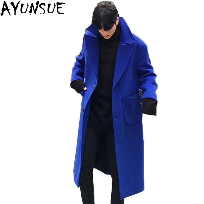 Cashmere Wool Overcoat - Double Breasted - 3 Colors