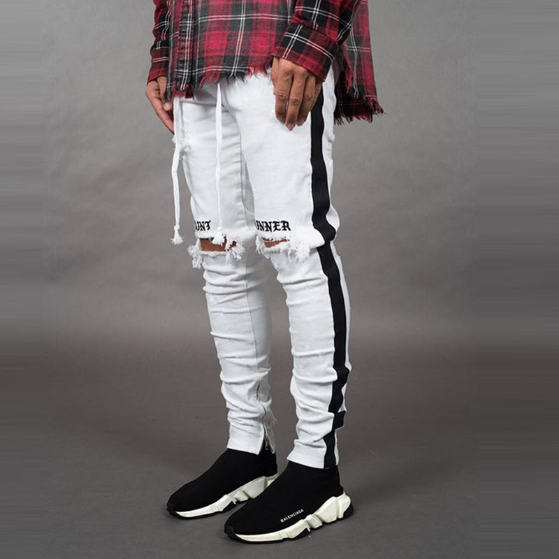 Trendy Streetwear Skinny Jeans - Stretchy Slim Fit - 2 Colors