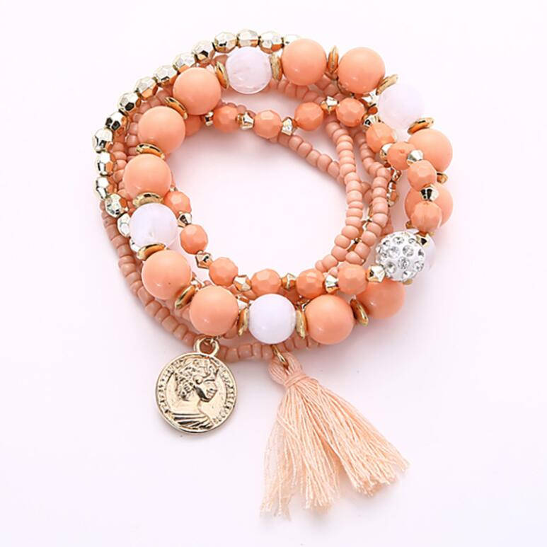 Multi-Layer Rice Beads Bracelet - 5 Colors