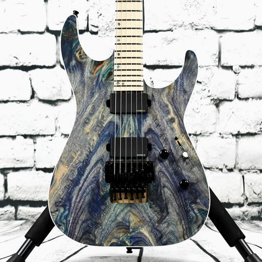 "ESP USA M-II DX ""One-Off"" - Natural Ink-Infused Poplar Burl"