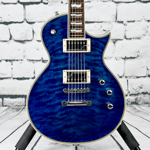 ESP E-II Eclipse Custom 2014 QM Marine Blue - Fluence [Pre-Owned]