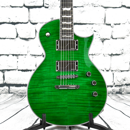 ESP LTD EC-1000 Custom FM See Thru Green - Fluence