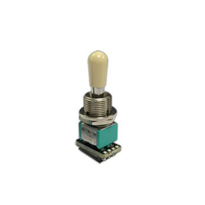 EMG Solderless Compact Les Paul Style Toggle Switch - White Tip