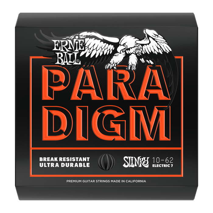 Ernie Ball Paradigm Skinny Top Heavy Bottom Slinky 7-String Electric Guitar Strings - 10-62 Gauge