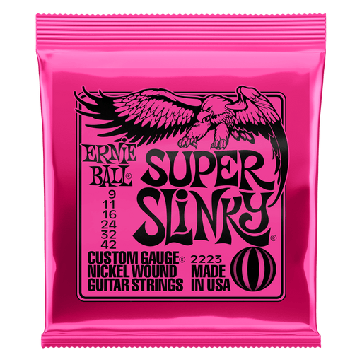 Ernie Ball Super Slinky Nickel Wound Electric Guitar Strings - 9-42 Gauge