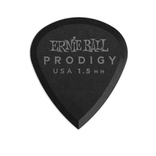 Ernie Ball Prodigy Black 3s Mini 1.5mm Picks 6-Pack
